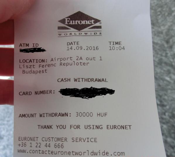 ハンガリーはクレジットカードでキャッシングするのがお得