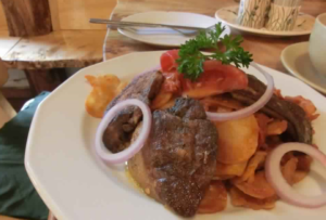 ブダペストのおすすめレストランのハンガリースタイルのフォアグラ