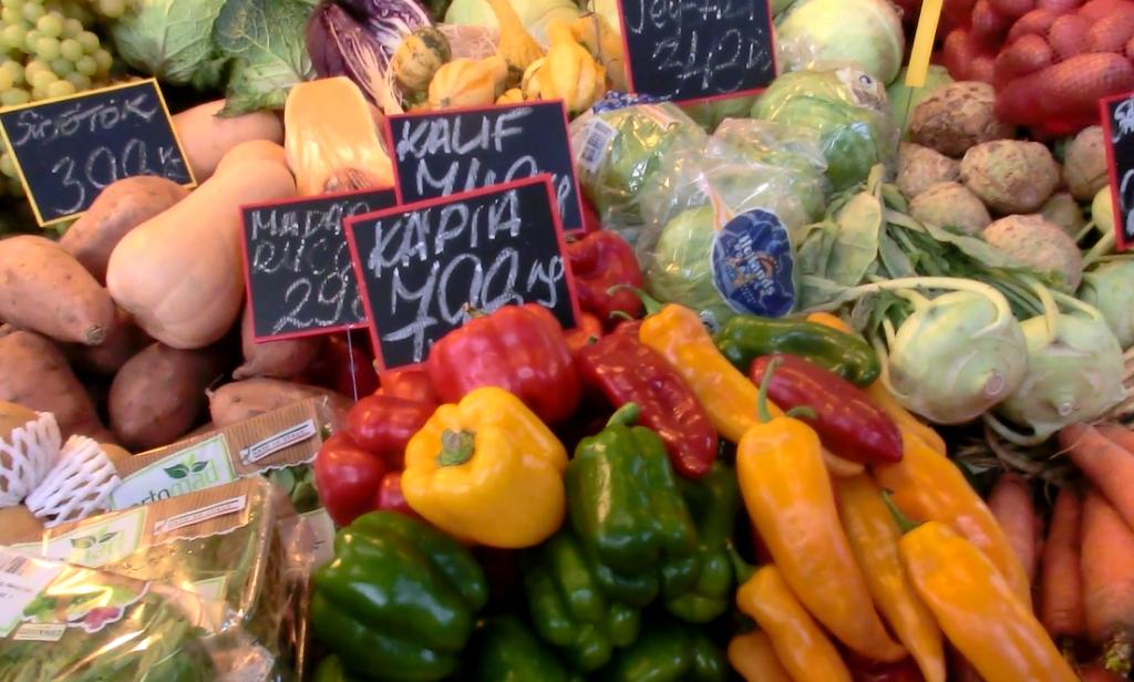 ブダペスト中央市場のパプリカ