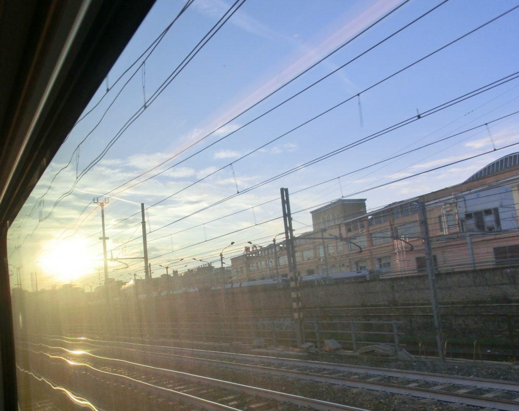 ローマからフィレンツェまで移動するイタロの景色
