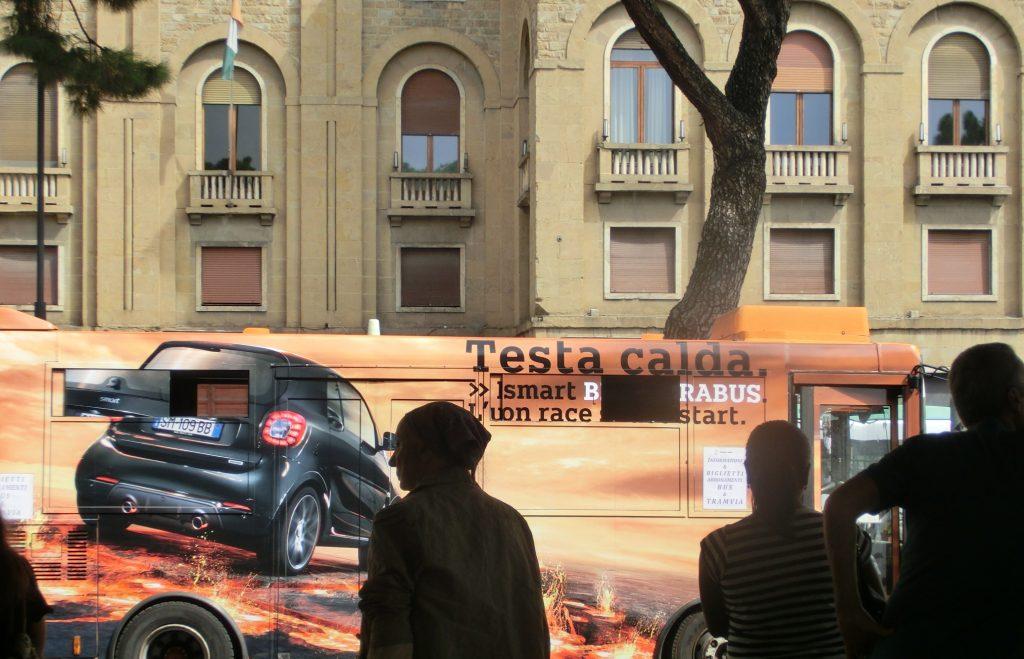 フィレンツェのバスチケット売り場