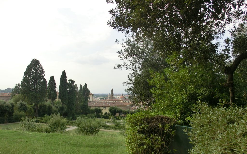 フィレンツェのボーボリ庭園の様子