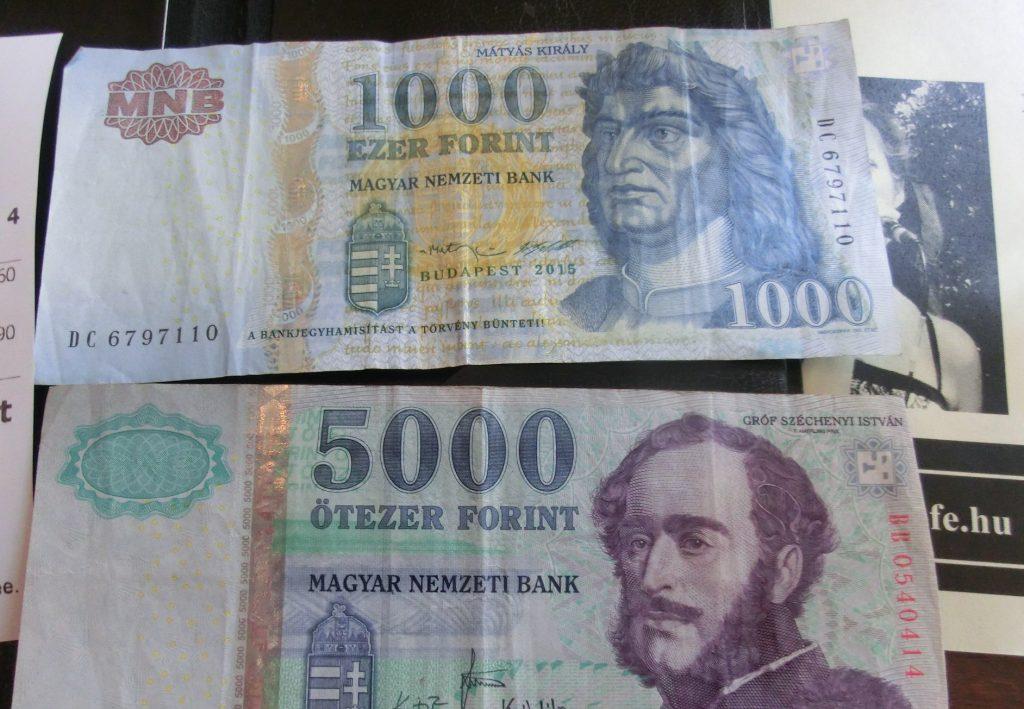 ハンガリーの通貨フォリントでお支払い