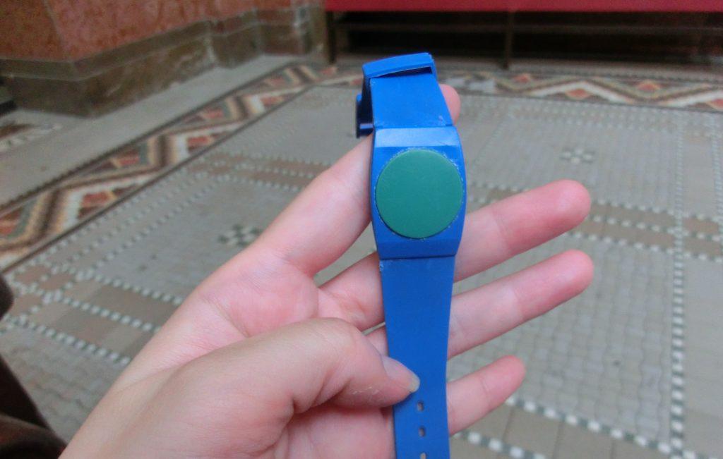 ブダペストのゲッレールト温泉の時計型ICチップ