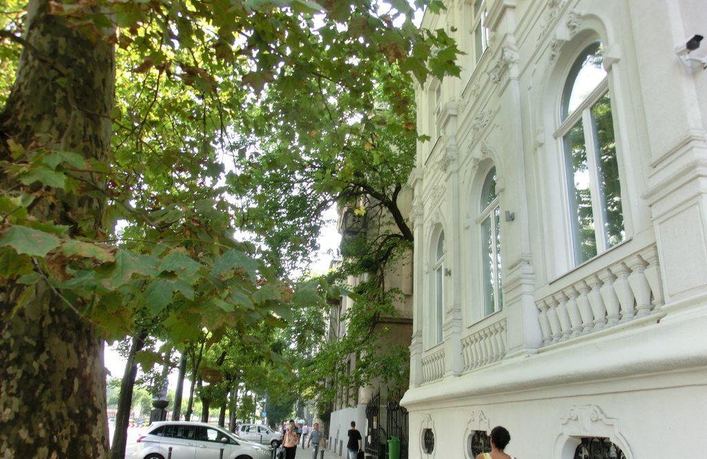ハンガリー・ブダペストの大通り