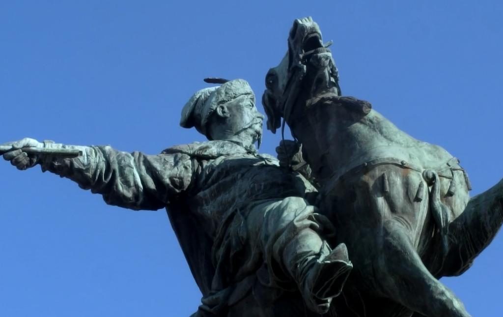 ウクライナ人っぽくないキエフの街中にある銅像