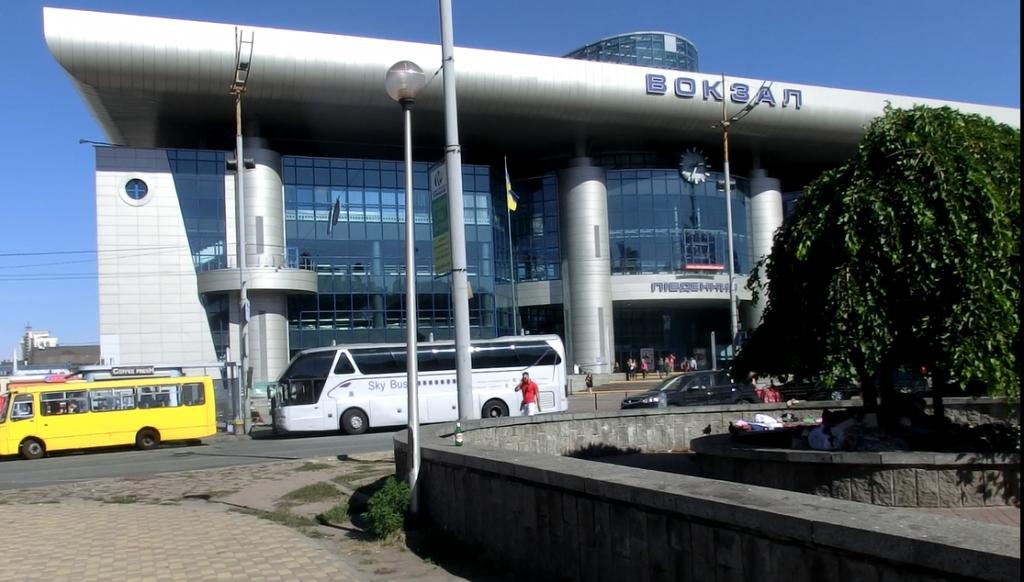 ウクライナのキエフ中央駅