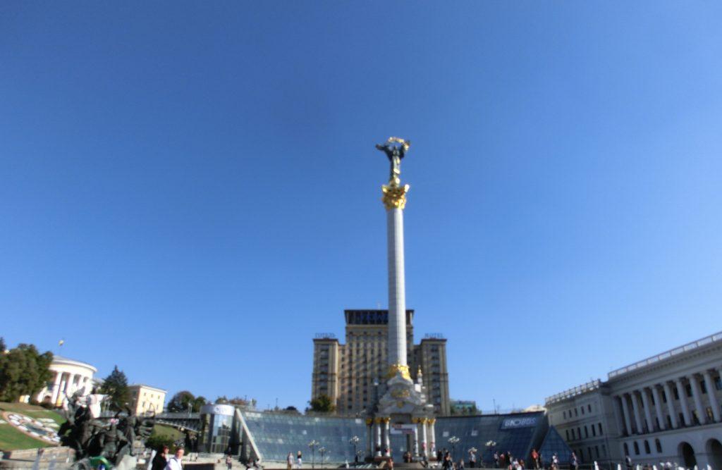 キエフの観光「キエフの独立広場」の風景