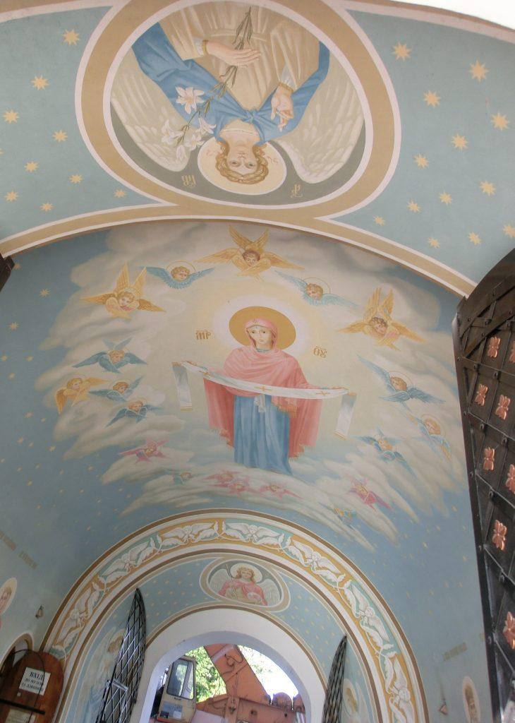 キエフの観光「聖ミハイルの黄金ドーム修道院」の壁画