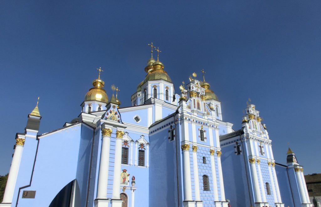 キエフの有名な観光スポット「聖ミハイルの黄金ドーム修道院」