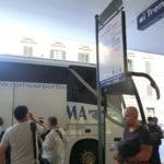 テルミニ駅からフィウミチーノ空港に行くシャトルバス