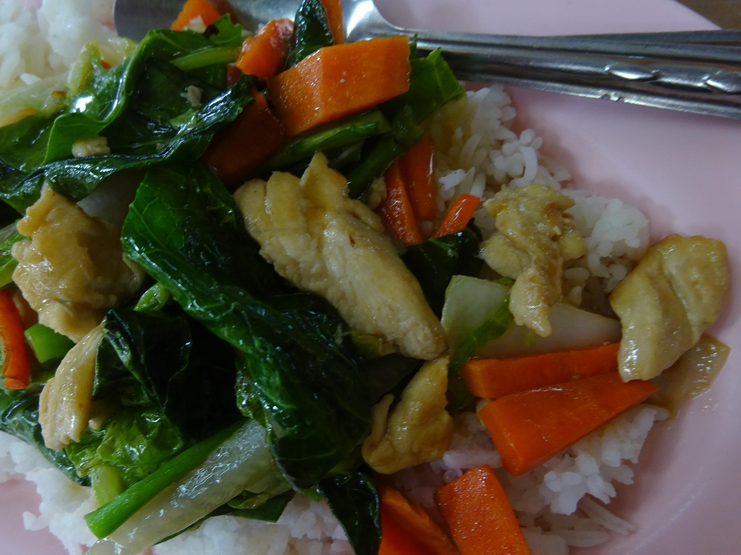 バンコクの屋台「B級グルメ」おすすめ野菜炒め
