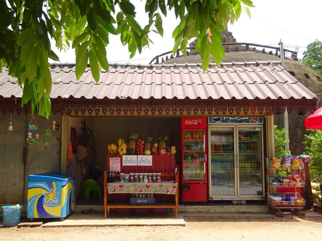 ラオス・ビエンチャン「ブッダパーク」の売店
