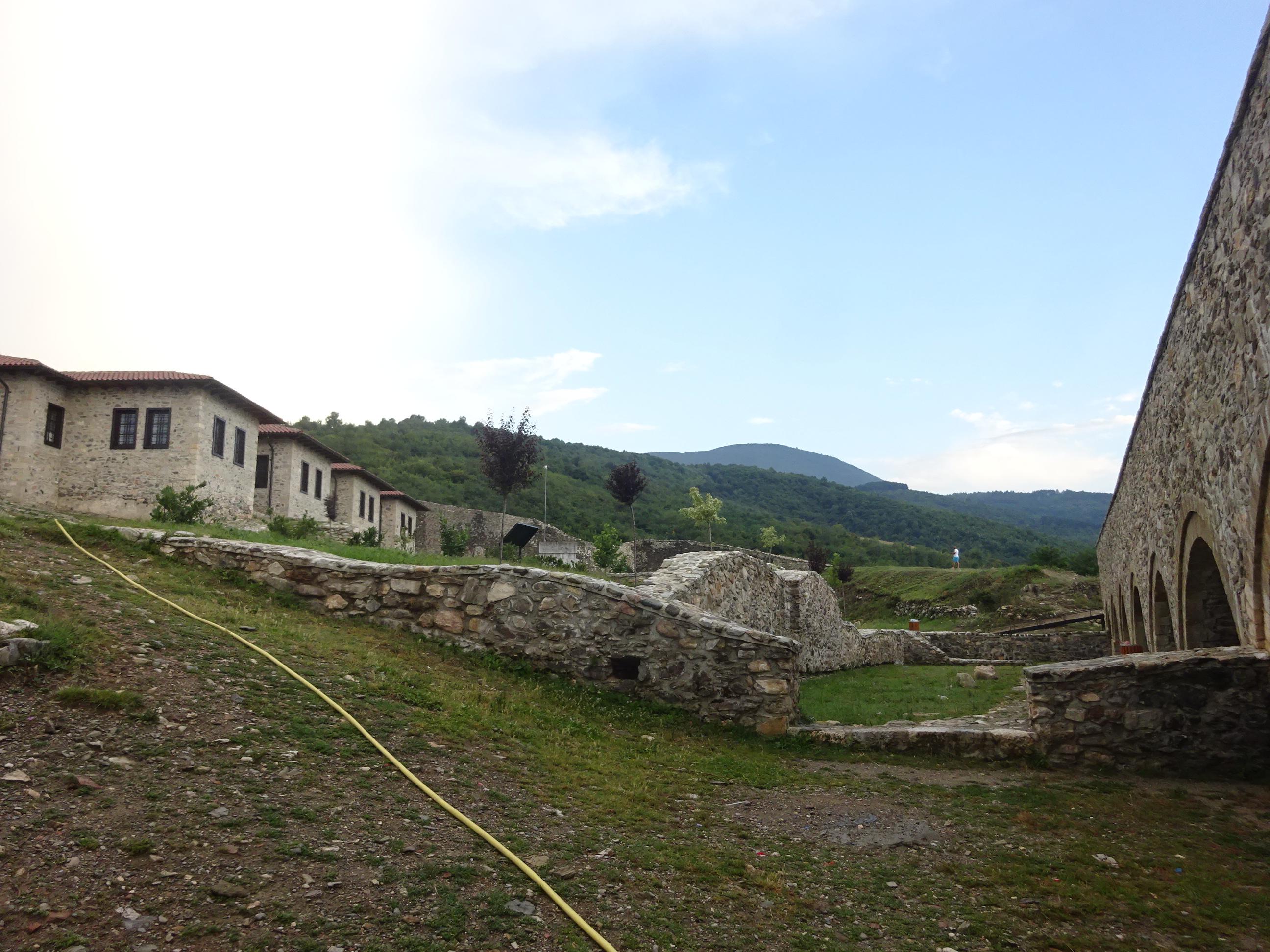プリズレンの観光「プリズレン要塞」の中の様子