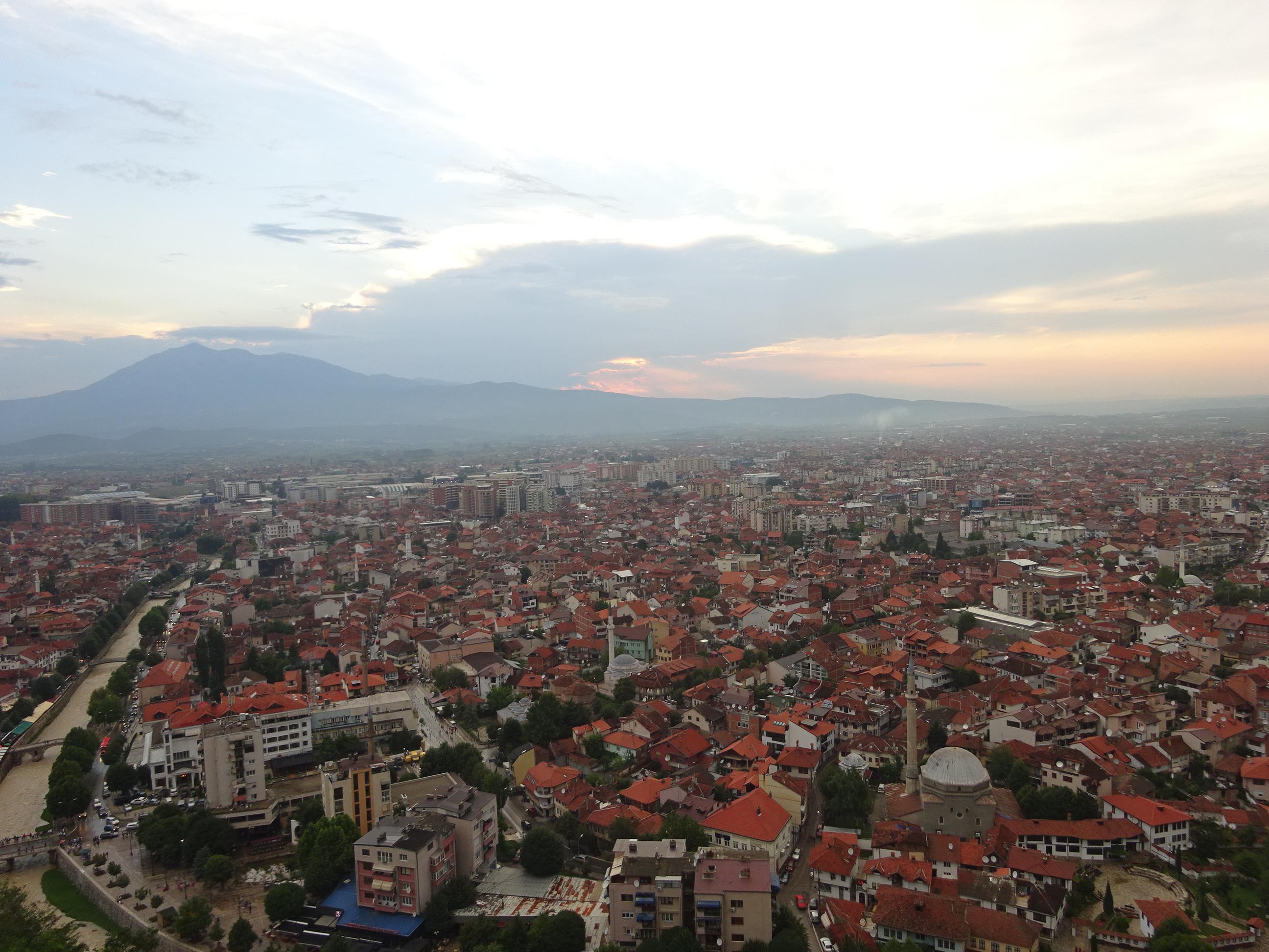プリズレンの観光「プリズレン要塞」からの眺め