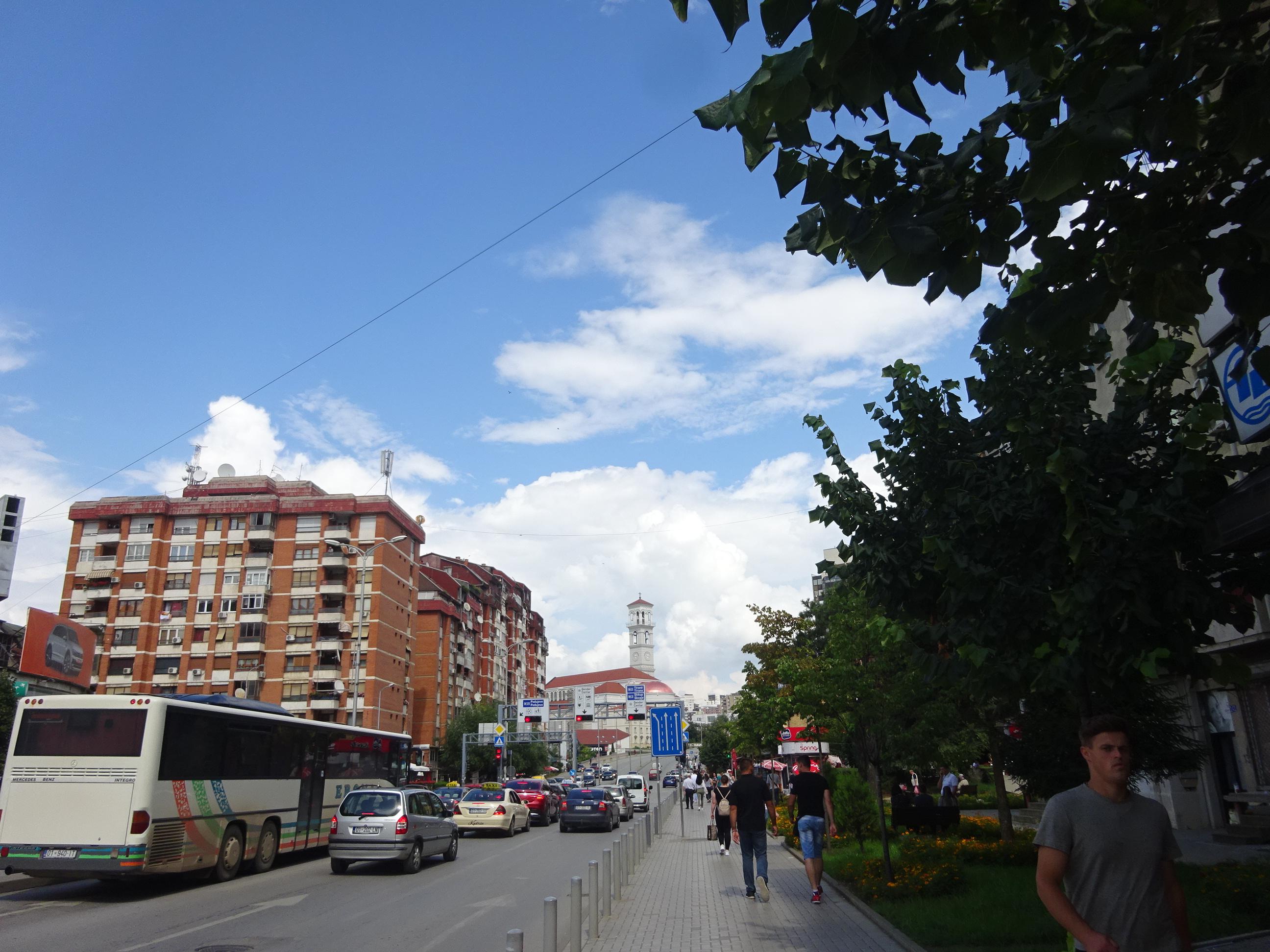 コソボのプリシュティナのビル・クリントン通り