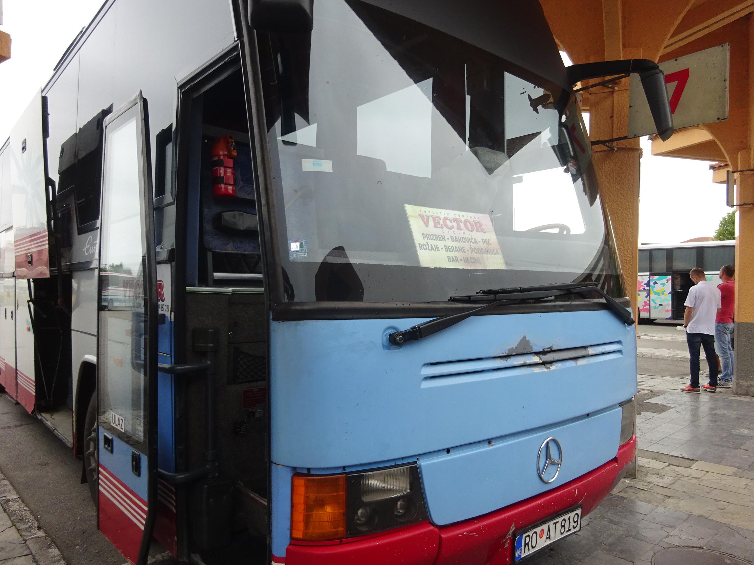 プリズレンからポドゴリツァを経由するバス