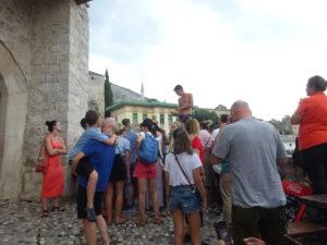 モスタル「古い橋(スタリ・モスト)」からの飛び込み
