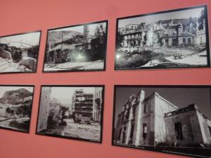 モスタルの博物館「BosnaSeum」ボスニア・ヘルツェゴビナ紛争の展示