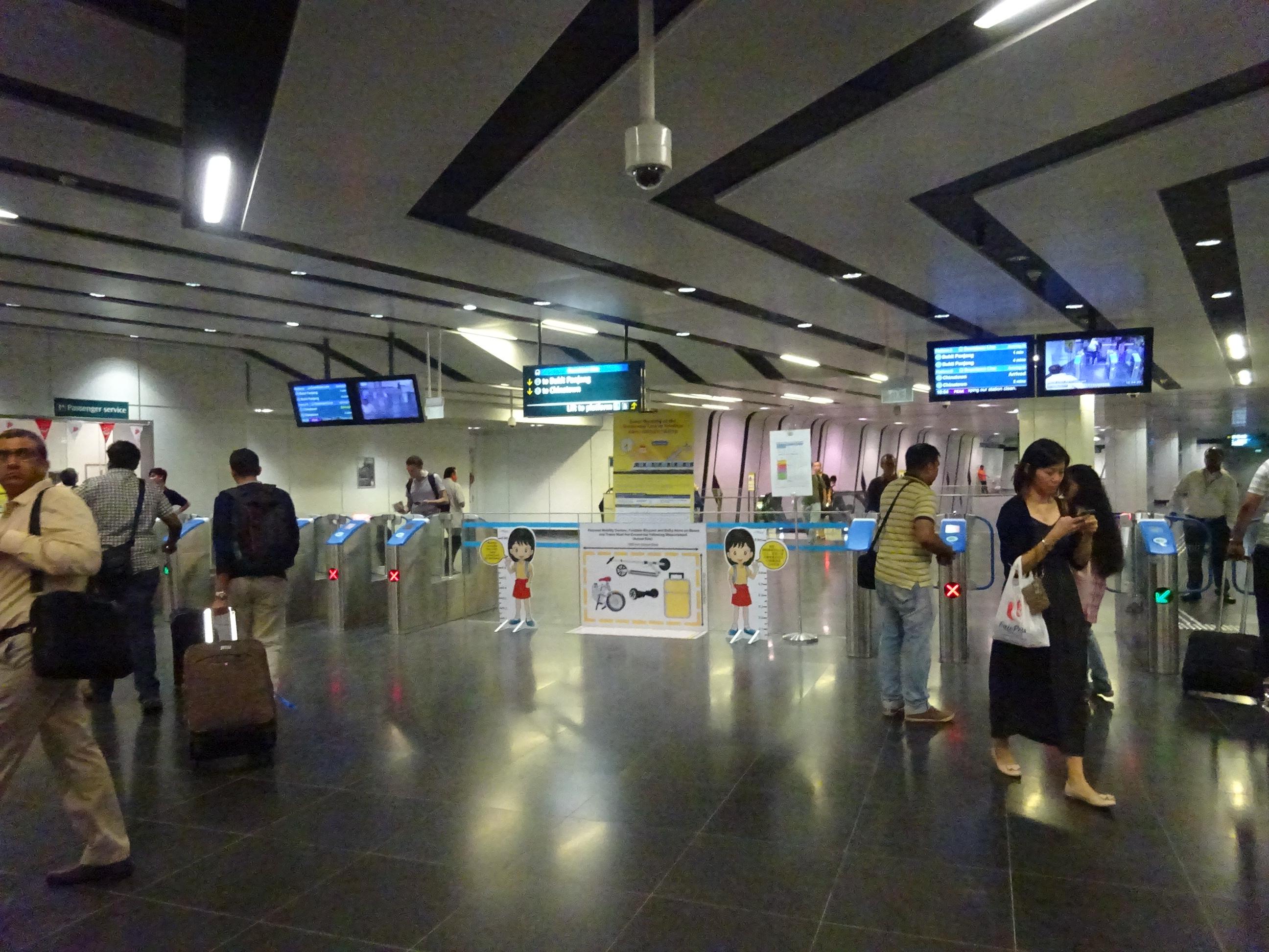 シンガポールの移動に便利な地下鉄