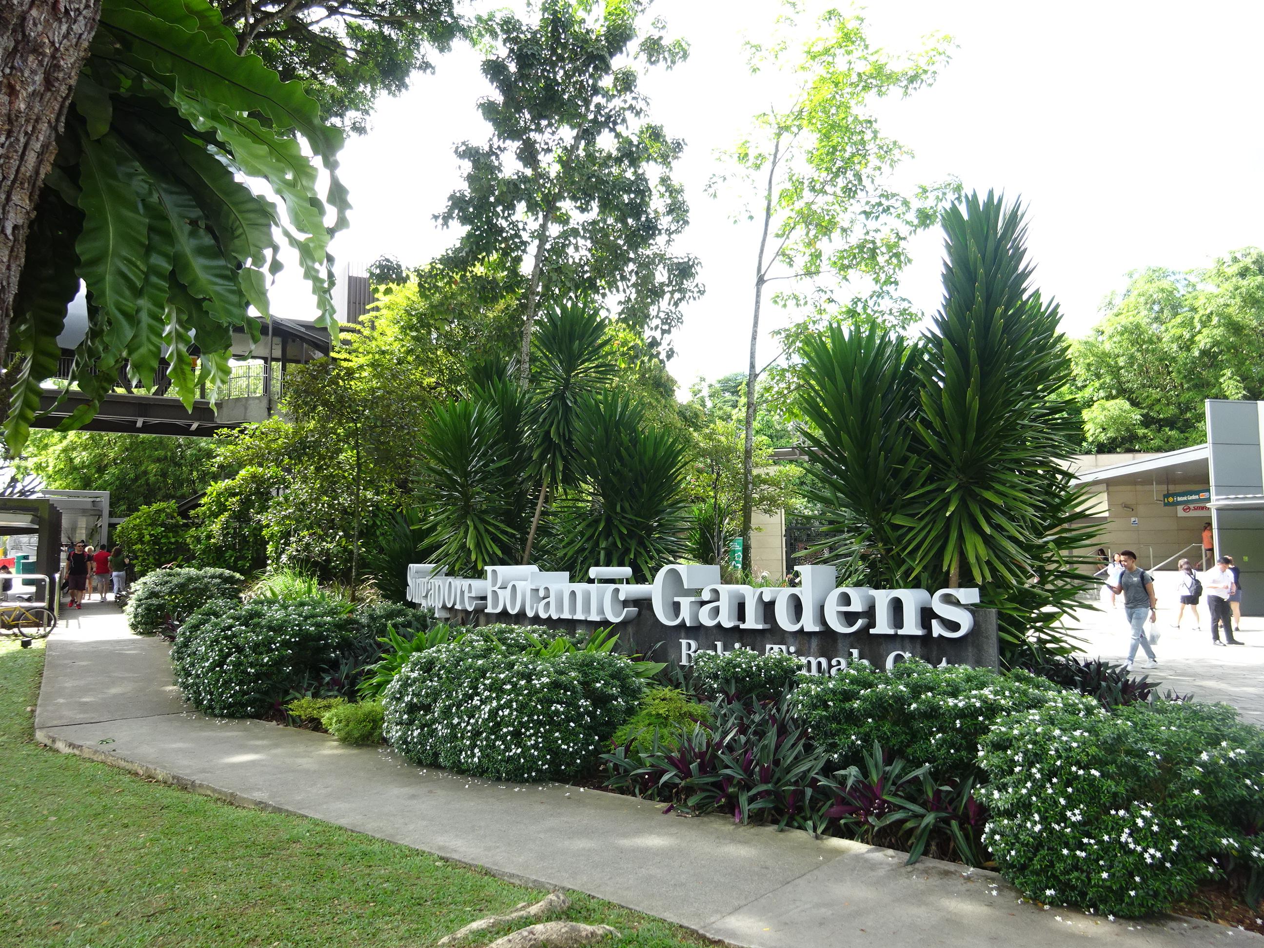 シンガポール植物園(ボタニック ガーデンズ)の入り口の風景