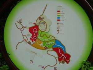 シンガポール植物園(ボタニック ガーデンズ)の全体の地図
