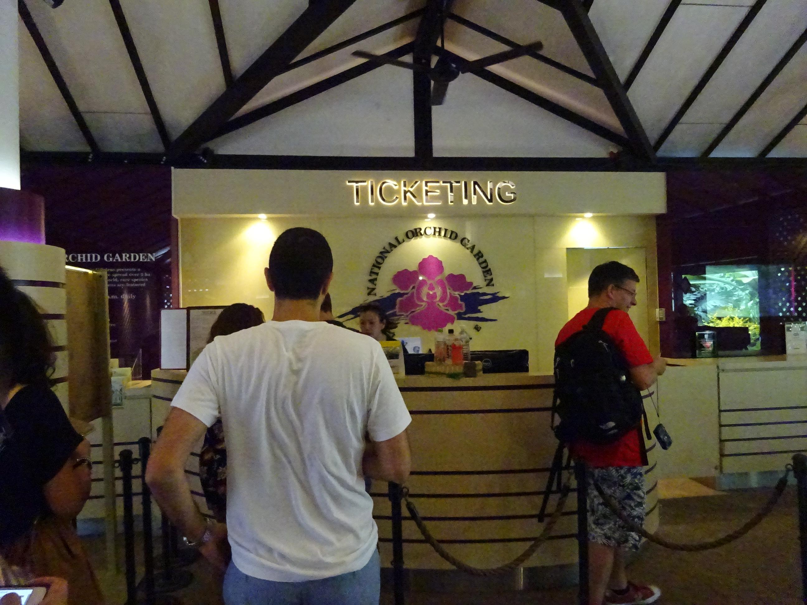 シンガポール植物園(ボタニック ガーデンズ)の国立洋ラン園(ナショナル オーキッド ガーデン)