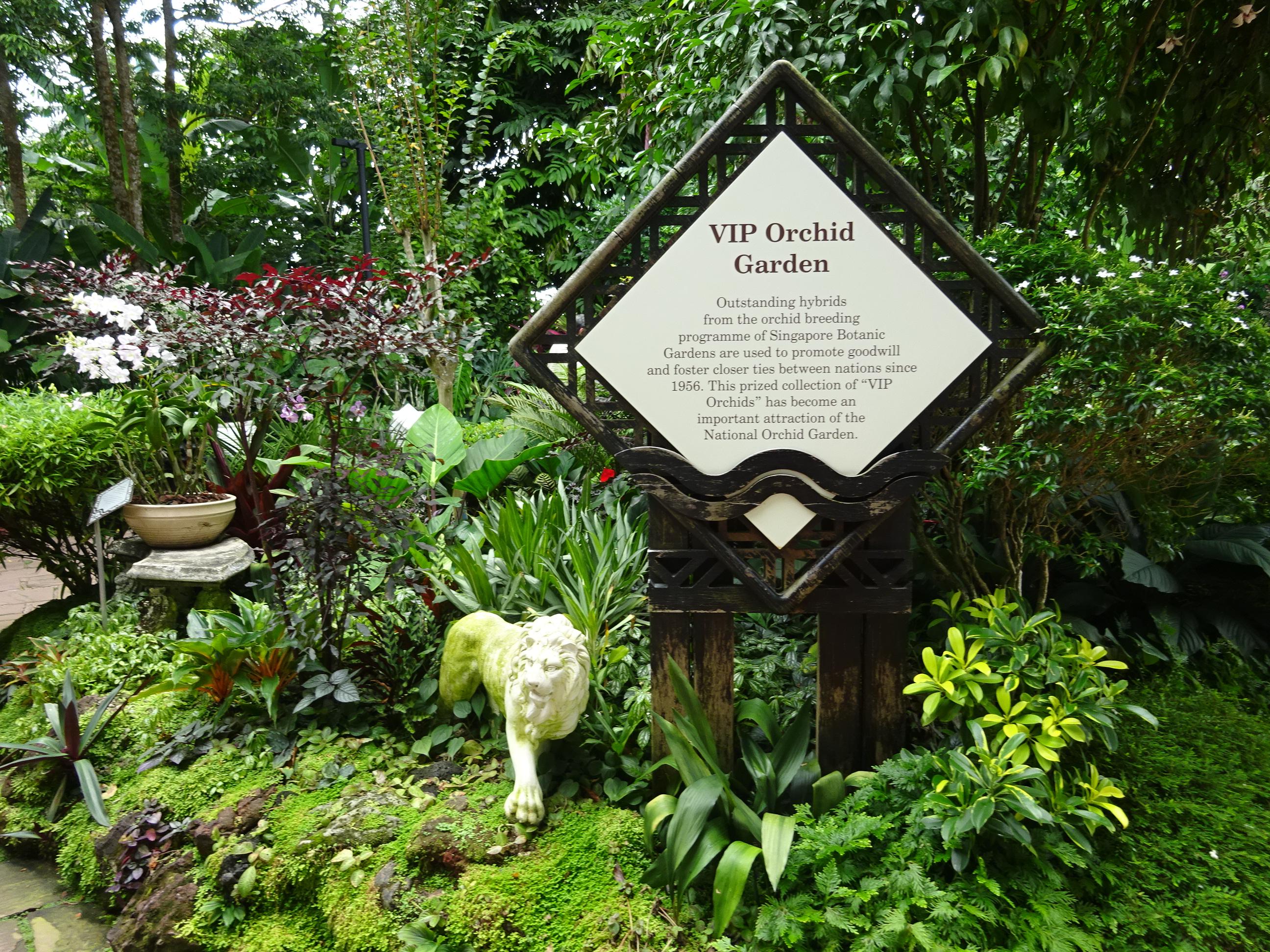 シンガポールの国立洋ラン園(ナショナル オーキッド ガーデン)の様子