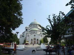 ベオグラードの観光のカナメ「聖サヴァ大聖堂」
