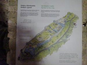 ジロカストラ城の全体地図