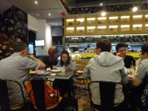 香港おすすめレストランの店内の様子