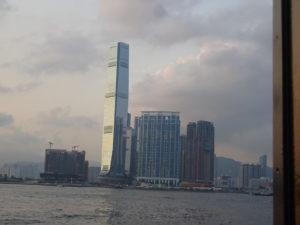 スターフェリー(天星小輪・Star Ferry)からの香港の眺め