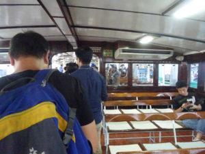 スターフェリー(天星小輪・Star Ferry)船内の様子